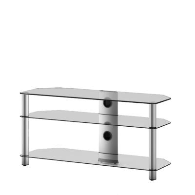Стойка для ТВ/аппаратуры Sonorous Neo 3110 Transparent Glass-Silver - общий вид