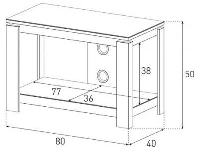 Стойка для ТВ/аппаратуры Sonorous HG 821 Black - габаритные размеры
