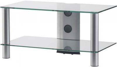 Стойка для ТВ/аппаратуры Sonorous LF 6120 Transparent Glass-Silver - общий вид