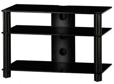Стойка для ТВ/аппаратуры Sonorous LF 6130 Black Glass-Black - общий вид