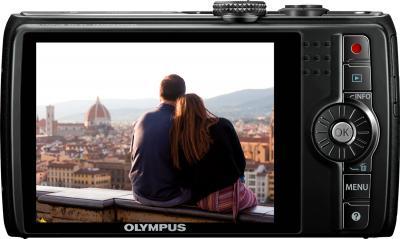 Компактный фотоаппарат Olympus SH-21 Black - вид сзади