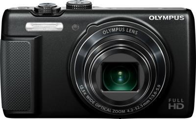 Компактный фотоаппарат Olympus SH-21 Black - вид спереди