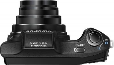Компактный фотоаппарат Olympus SZ-14 Black - вид сверху