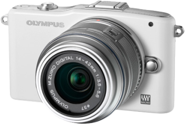 Беззеркальный фотоаппарат Olympus E-PM1 Kit 14-42mm White - общий вид