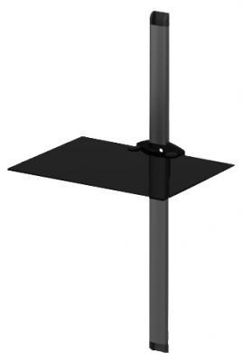 Кронштейн под аппаратуру Sonorous PL 2610 Black Glass-Black - общий вид