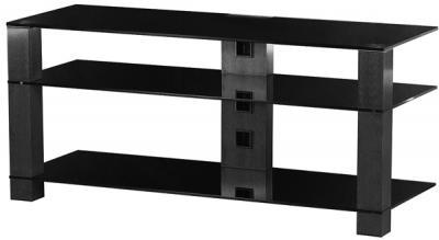 Стойка для ТВ/аппаратуры Sonorous PL 3400 Black Glass-Black - общий вид