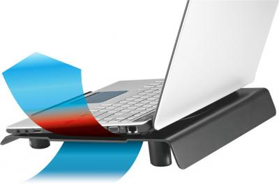 Подставка для ноутбука Cooler Master NotePal CMC3 (R9-NBC-CMC3-GP) - с ноутбуком (распределение воздуха)