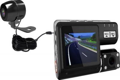 Автомобильный видеорегистратор Recordeye DC770 - общий вид с выносной камерой