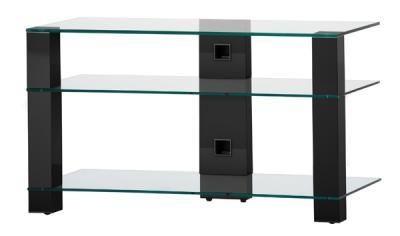 Стойка для ТВ/аппаратуры Sonorous PL 3405 Transparent Glass-Black - общий вид