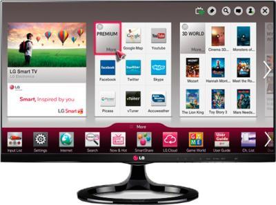 Телевизор LG 27MS73V-PZ (Black) - вид спереди
