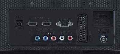 Телевизор LG 24MA53V-PZ (Black) - входы/выходы