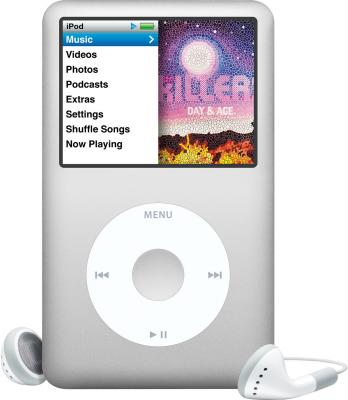MP3-плеер Apple iPod classic 160Gb MC293QB/A (серебристый) - общий вид
