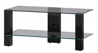Стойка для ТВ/аппаратуры Sonorous PL 3415 Transparent Glass-Black - общий вид