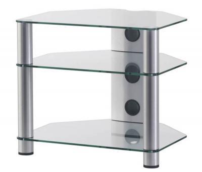 Стойка для ТВ/аппаратуры Sonorous RX 2130 Transparent Glass-Silver - общий вид