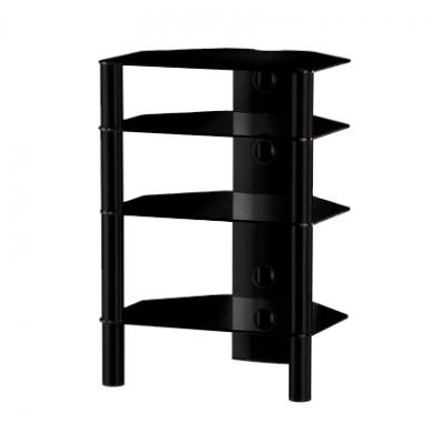 Стойка для ТВ/аппаратуры Sonorous RX 2140 Black Glass-Black - общий вид