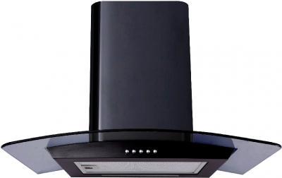 Вытяжка купольная Backer QD60A-G6L120 (60, черный глянец/темное стекло) - общий вид