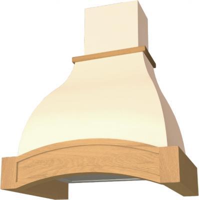 Вытяжка купольная Elikor Аркада 90 (крем/дуб неокрашенный) - общий вид