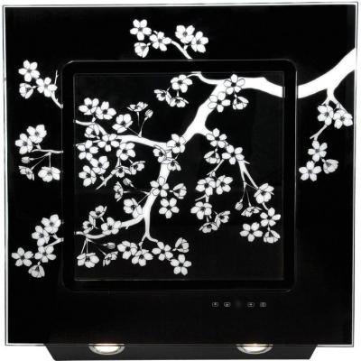 Вытяжка декоративная Elikor Оникс ART 60 (черный/сакура) - общий вид