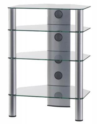 Стойка для ТВ/аппаратуры Sonorous RX 2140 Transparent Glass-Silver - общий вид