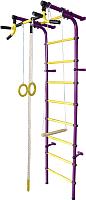 Детский спортивный комплекс Формула здоровья Непоседа-4В Плюс (фиолетовый/желтый) -