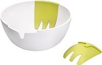 Салатник Joseph Joseph Hands-On Salad Bowl & Servers HOSB011CB (белый) -