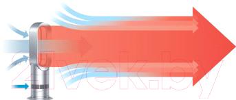 Тепловентилятор Dyson AM09 Hot + Cool (белый/серебристый)