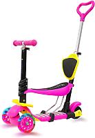 Самокат Sundays KB05B-1 (розовый, светящиеся колеса) -