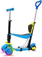 Самокат Sundays KB05B-2 (голубой, светящиеся колеса) -