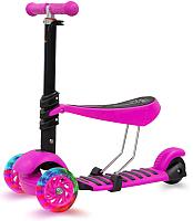Самокат Sundays KB05-1 (розовый, светящиеся колеса) -