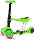 Самокат Sundays KB05-3 (зеленый, светящиеся колеса) -