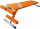 Скамья для пресса Формула здоровья Альфа (оранжевый/серебристый) -