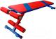 Скамья для пресса Формула здоровья Альфа (красный/синий) -