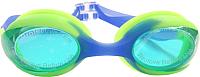 Очки для плавания Sabriasport G440 (голубой/салатовый) -