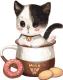 Картина по номерам Picasso Котенок в чашке №1 (PC3030001) -