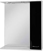 Шкаф с зеркалом для ванной Ювента Франческа ФШН33-75 (черный) -