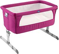 Детская кроватка Chicco NEXT2ME (фуксия) -