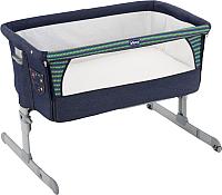 Детская кроватка Chicco NEXT2ME (джинс) -