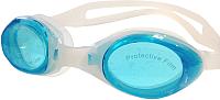 Очки для плавания Sabriasport G334 (прозрачный/голубые линзы) -