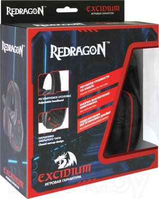 Наушники-гарнитура Redragon Excidium / 64200 (красный/черный)
