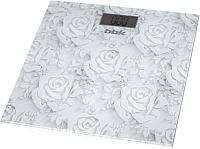 Напольные весы электронные BBK BCS3000G (белый) -