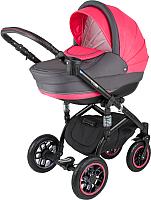 Детская универсальная коляска Adamex Lara 2 в 1 (1М/красный) -