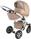 Детская универсальная коляска Adamex Barletta 2 в 1 (Dark Beige Dream) -