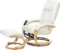 Массажное кресло Calviano Lucaro Recliner с пуфом (бежевый) -