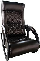 Кресло-качалка Calviano Бастион 1 Ромбус (темно-коричневый) -