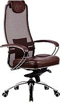 Кресло офисное Metta Samurai SL1 (коричневый) -