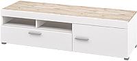 Тумба Мебель-Неман Селена МН-224-01 (дуб бордо/белый глянец) -