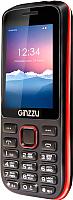 Мобильный телефон Ginzzu M201 Dual (черный/красный) -