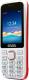 Мобильный телефон Ginzzu M201 Dual (белый/красный) -