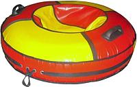 Тюбинг-ватрушка Глобус Water & Snow 100 (красный/желтый) -