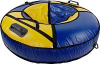 Тюбинг-ватрушка Глобус Tube 110 (синий-желтый) -